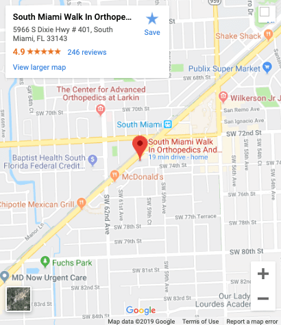 South Miami Walk In Orthopedics And Sports Medicine Map